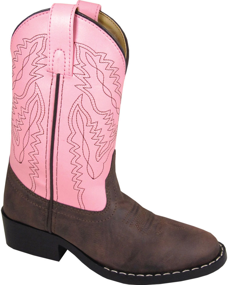 35377937ab2 Smoky Mountain Youth Girls' Monterey Western Round Toe Boots Style 1574Y -  3.5