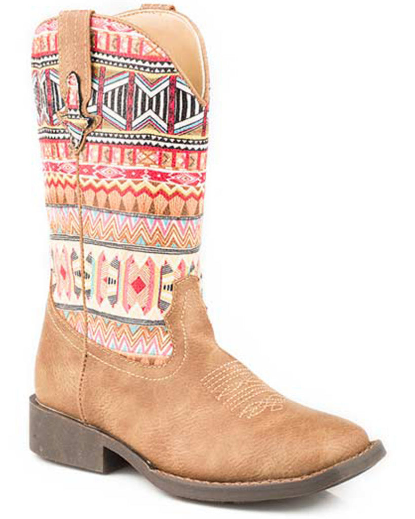 Roper Girls Azteca Western Square Toe  Boots Style 09-018-1226-2032