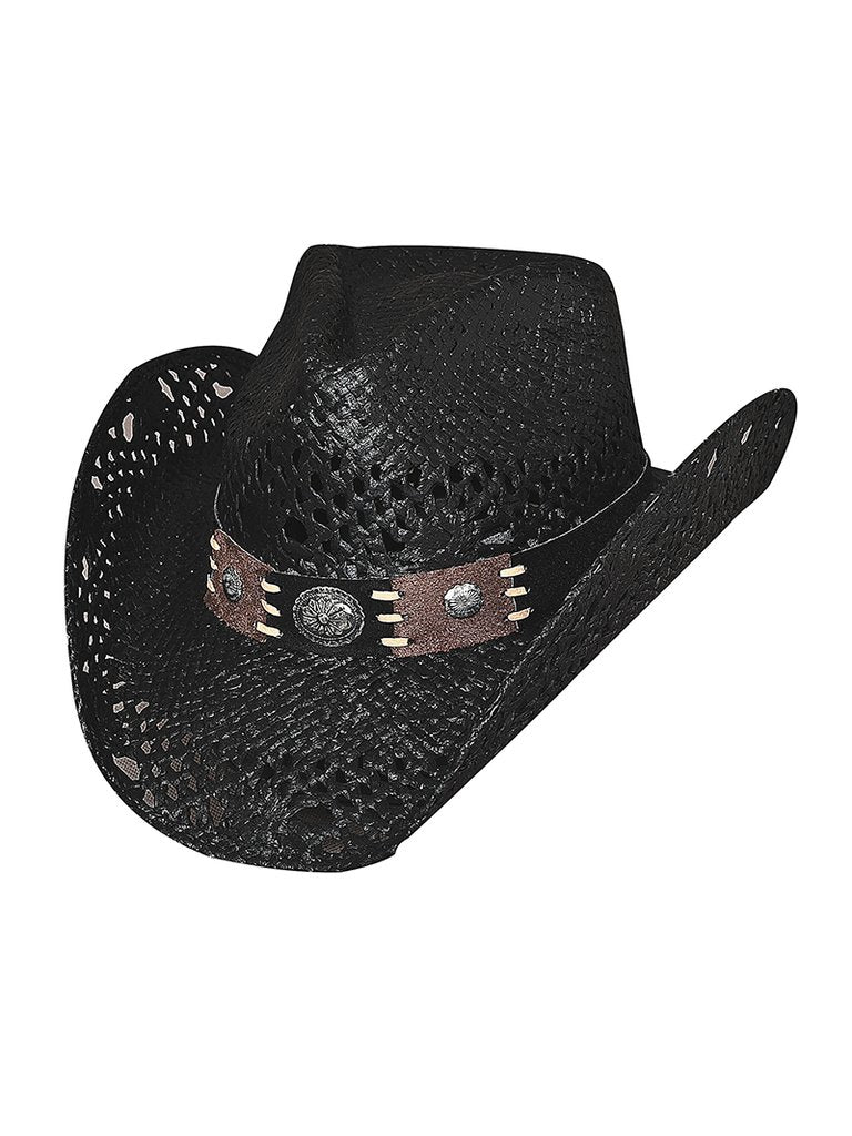 Bullhide Fashion Straw Hat Pure Country Black Style 2534BL