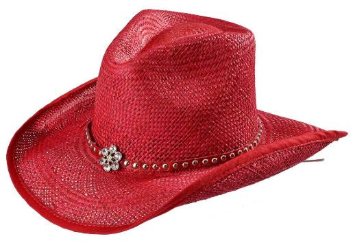 "Bullhide Kids ""All American Girl"" Straw Hat Red Style 2717R"