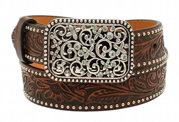 M & F Products Ariat GIRLS' EMBOSSED FASHION BELT Style A1303602