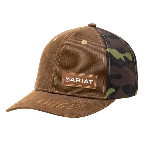 Ariat Men's Oil Skin Camo Fabric Back Cap Brown Style A300000402