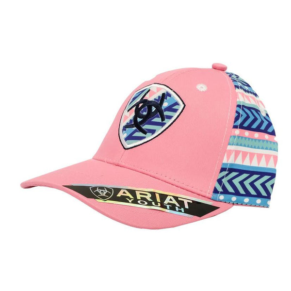 Ariat Pink Aztec Snapback Youth Cap Style A300004030