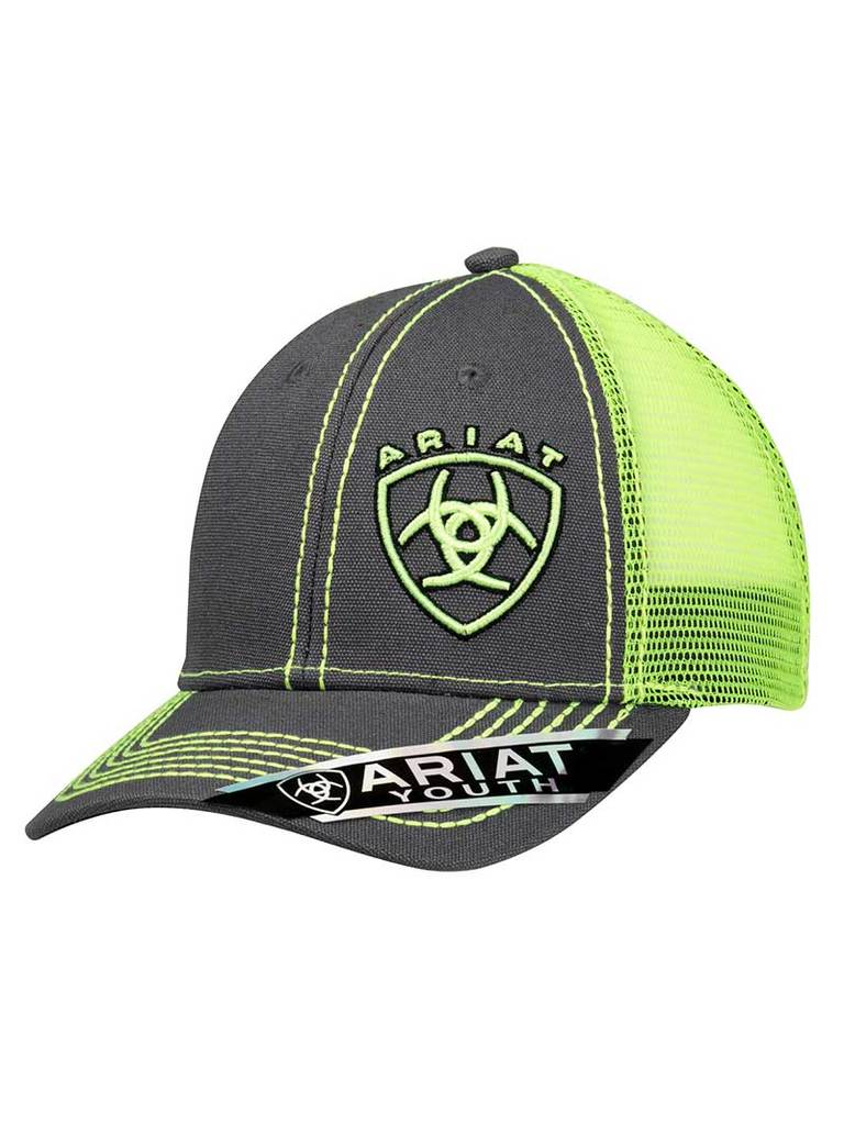 M & F Products Ariat Youth Lime Green Signature Logo Cap Style 1514323