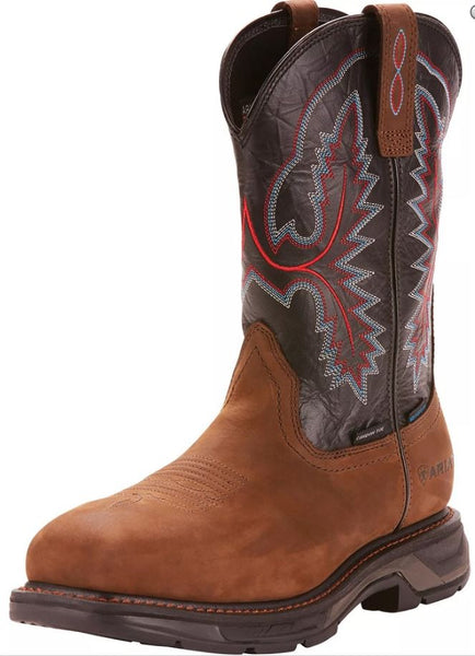 Ariat Mens Carbon Toe WorkHog XT Waterproof Square Wellington Boot Style 10024968