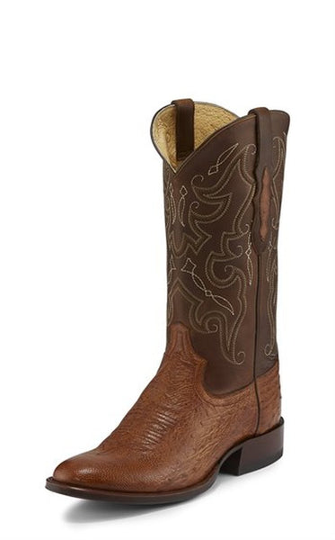 Tony Lama Men's Patron Saddle Smooth Ostrich Cowboy Boot Style TL5375