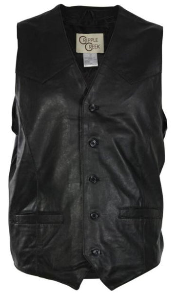 Cripple Creek Men's Lambskin Button Front Vest Style ML3059