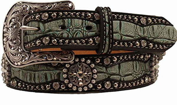 M & F Products Ariat Women's Gator Print Leather Belt Style A1516828