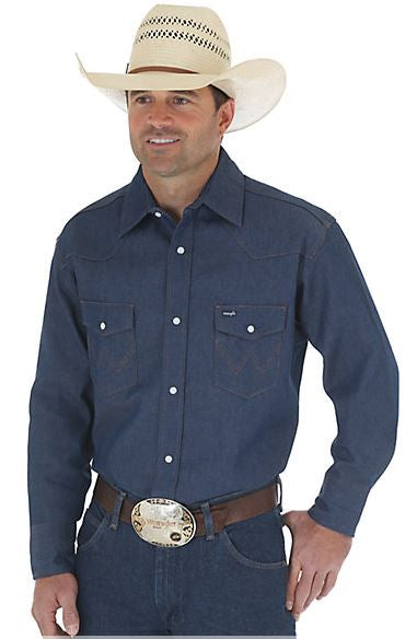 COWBOY CUT® WORK WESTERN RIGID DENIM LONG SLEEVE SHIRT STYLE 70127MW
