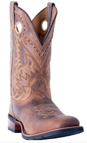 Laredo Men's Distressed Tan Kane Square Toe Western Boots Style 7812