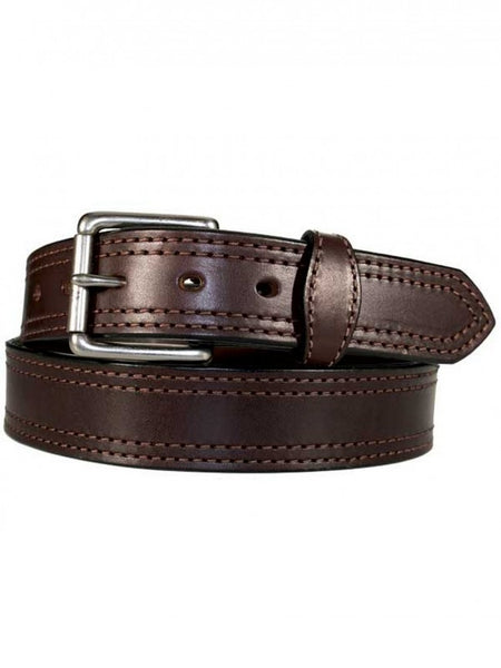 Gingerich Belts Men's Brown Double Stitched Leather Belt Style 8018-36