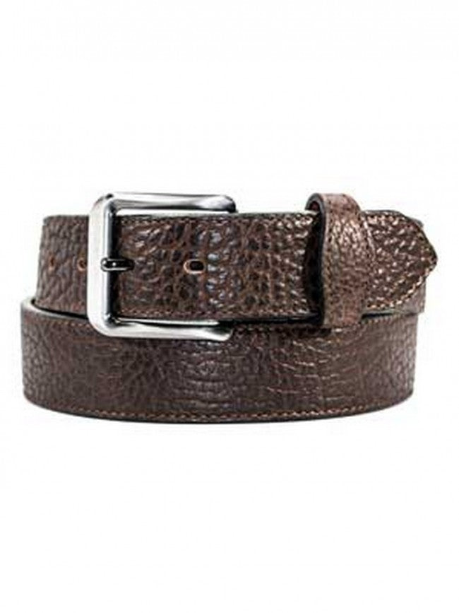 Gingerich Men's Brown Shrunken Bison Leather Belt Style 8245-14
