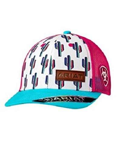 ARIAT YOUTH GIRLS MULTI COLOR CACTUS SNAPBACK BALL CAP Style 1519105
