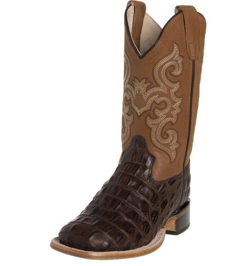 Jama Childs Brown Horn Back Gator/tan Canyon Cowboy Boots Style BSC1830