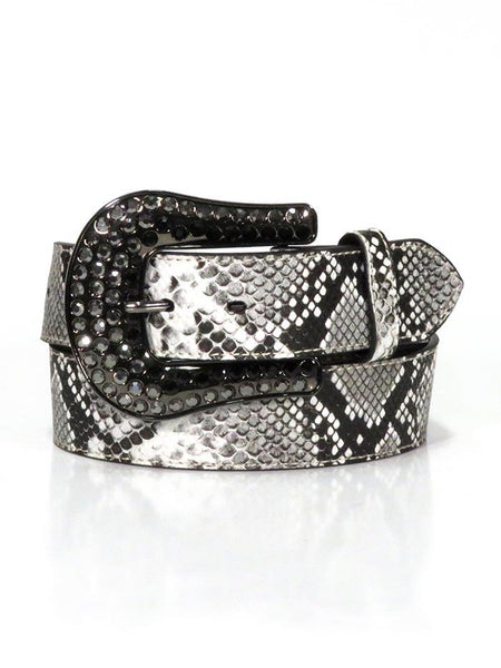 Nocona Ladies Snake Skin Print Genuine Leather Belt Natural Style N320001562