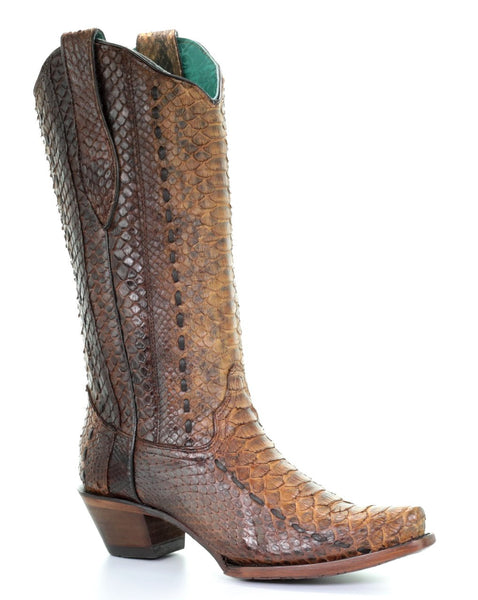 Corral Tan Full Python Woven Style A3659