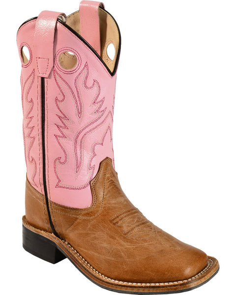 Jama Girls' Pink Cowgirl Square Toe Boots Style BSC1839