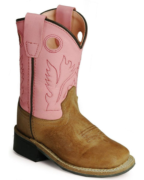 Jama Toddler Girls' Pink Cowgirl Square Toe Boots Style BSI1839