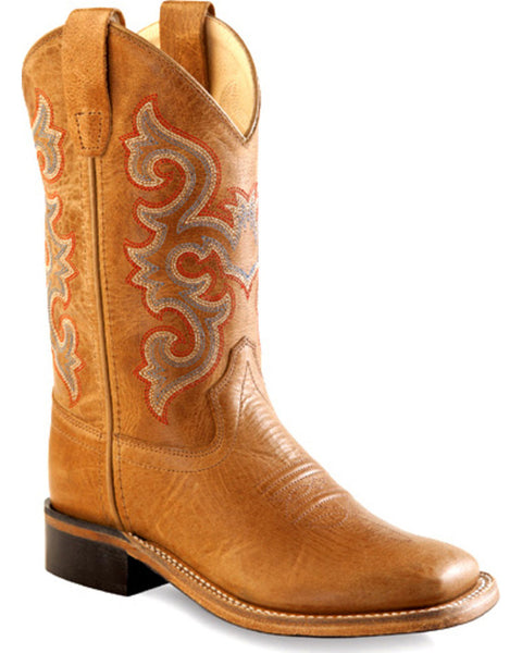 Jama Tan Youth Cowboy Square Toe Boots Style BSY1818