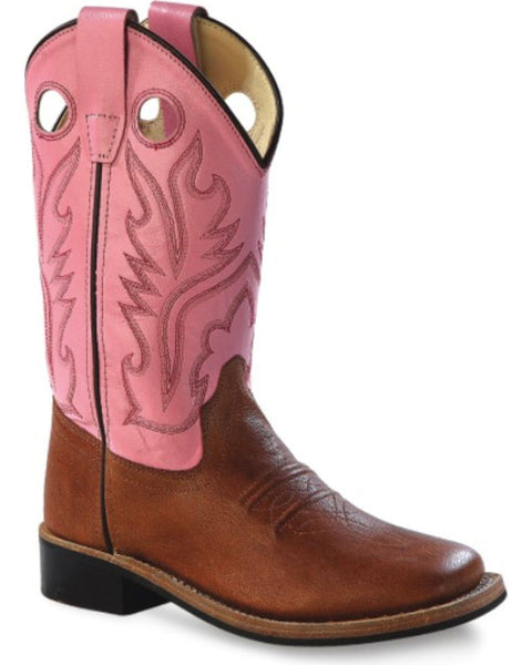 Jama Youth Girls' Pink Canyon Cowgirl Boots Style BSY1839