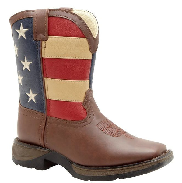 DURANGO LIL' KID'S PATRIOTIC WESTERN FLAG BOOT STYLE BT245