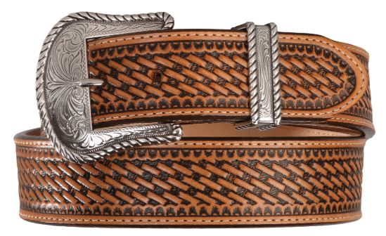 Leegin Justin Bronco Basketweave Leather Belt Style C12264