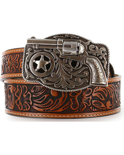 Leegin Justin Kid's Tooled Leather Belt Style C30124