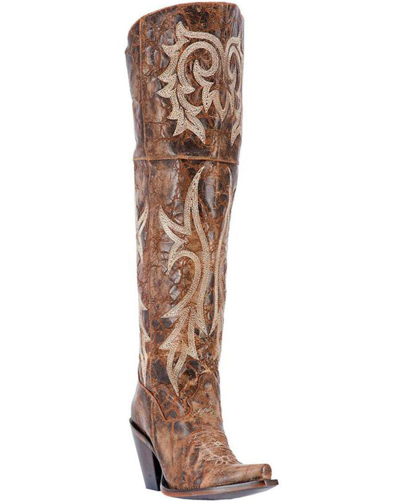52016fc1b85 Dan Post Women's Jilted Knee High Western Boots Style DP3709 - 9 1/2
