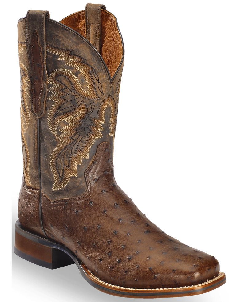 Dan Post Men's Alamosa Exotic Ostrich Cowboy Certified Boots Style DP3875
