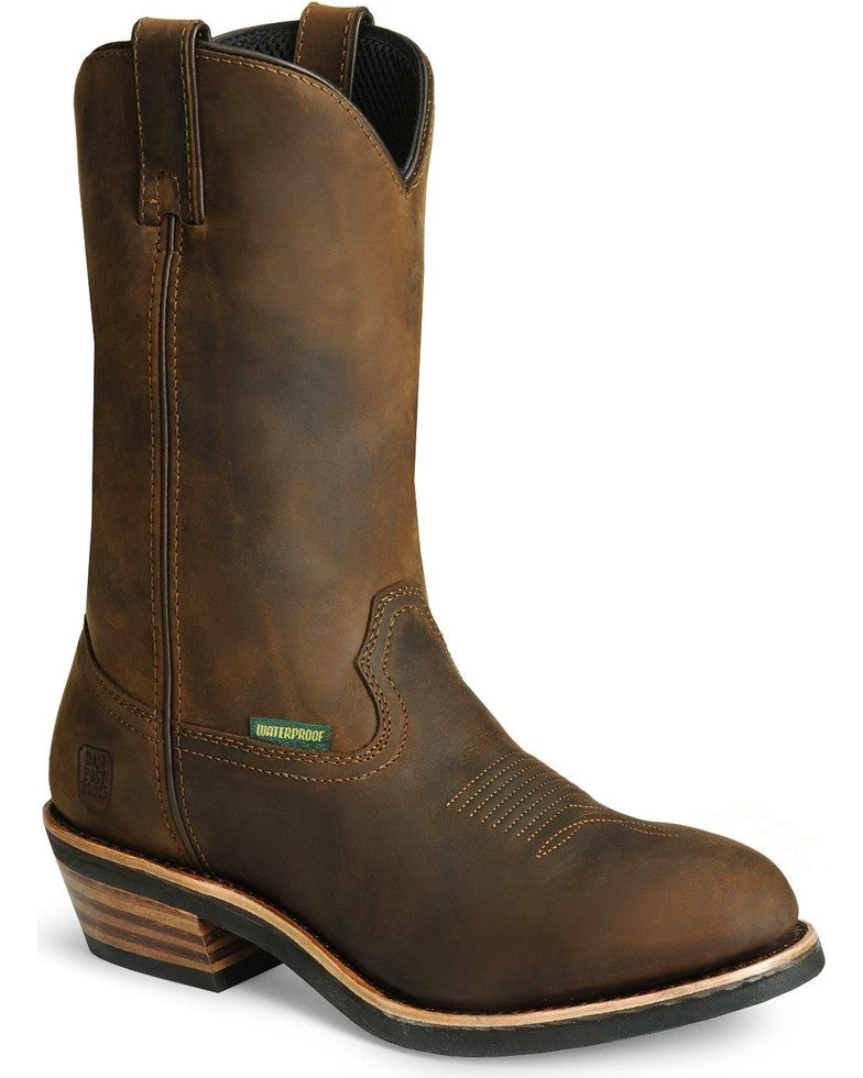 Dan Post Albuquerque Waterproof Distressed Leather Western Work Boots Style DP69681