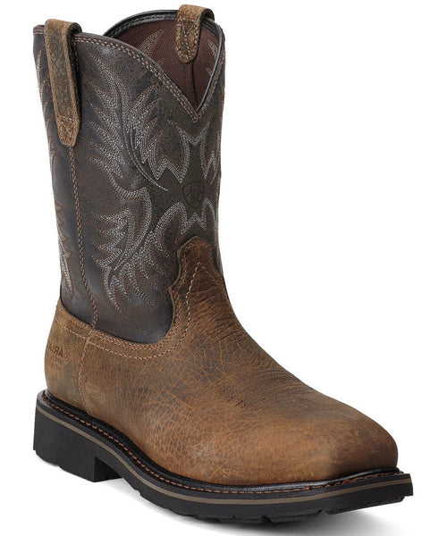 Ariat Men's Sierra Wide Square Steel Toe Work Boots Style 10012948