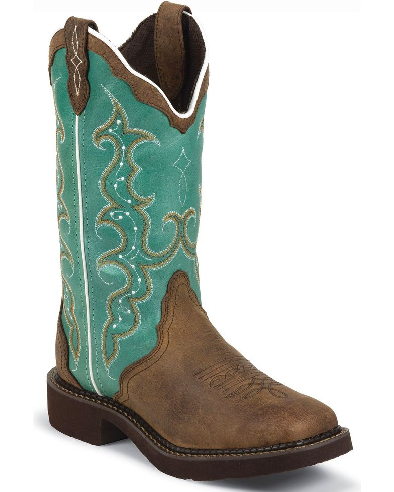 Justin Gypsy Women's Square Toe Barnwood Western Boots Style L2904