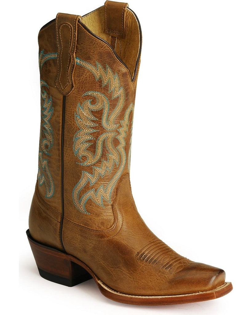 94935b112e1 Nocona Ladies Vargas Old West Tan Fashion Western Boots Style NL5009 - 9 1/2