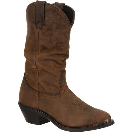 Durango Boots Ladies Tan Distressed Slouch Western Boot Style RD542