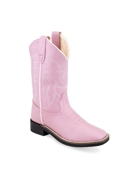 Jama Girls' Pink Cowboy Square Toe Boots Style VB9131