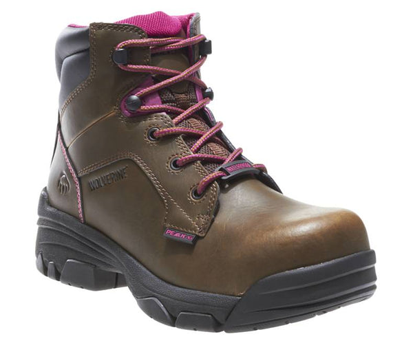 "WOLVERINE WOMEN'S MERLIN WATERPROOF COMPOSITE-TOE 6"" WORK BOOT STYLE W10383"