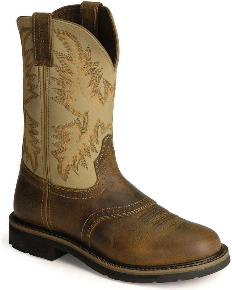 Justin Men's Soft Toe Work Boots Style WK4660
