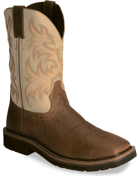 "Justin Men's Stampede 11"" Western Work Boots Style WK4683"