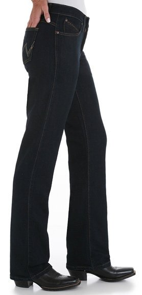 Wrangler Women's Q-Baby Ultimate Riding Mid Rise Stretch Dark Dynasty Jeans Style WRQ20DD