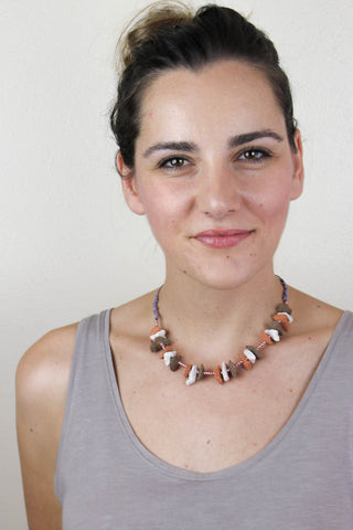 Tricolor Shards Necklace
