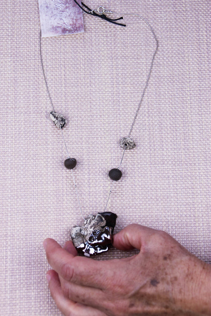 Metallic Glaze Necklace