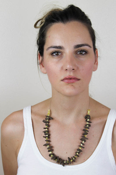 Brown Shards Medium Necklace
