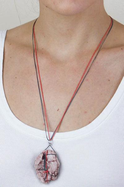 Red double Thread Necklace