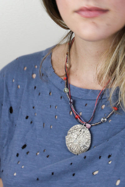 Brown Textured Necklace