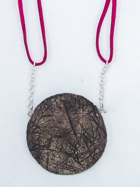 Dark Brown Textured Necklace