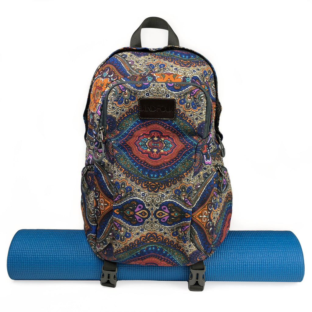 bc1c42ab3a Yoga Mat Backpack With Two Straps (Celestial) - Kindfolk Athletics