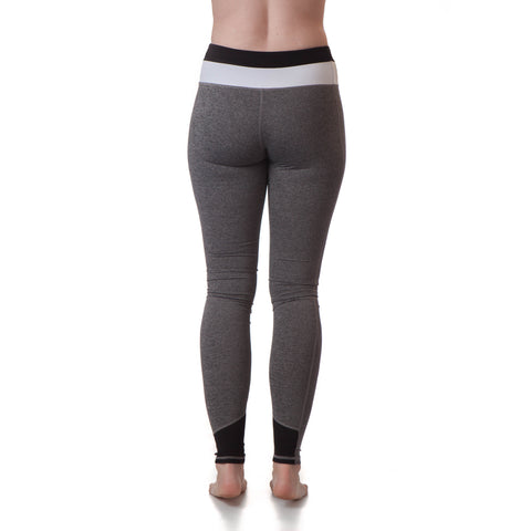Extra Long Yoga Pants for Tall Women (Black/White)