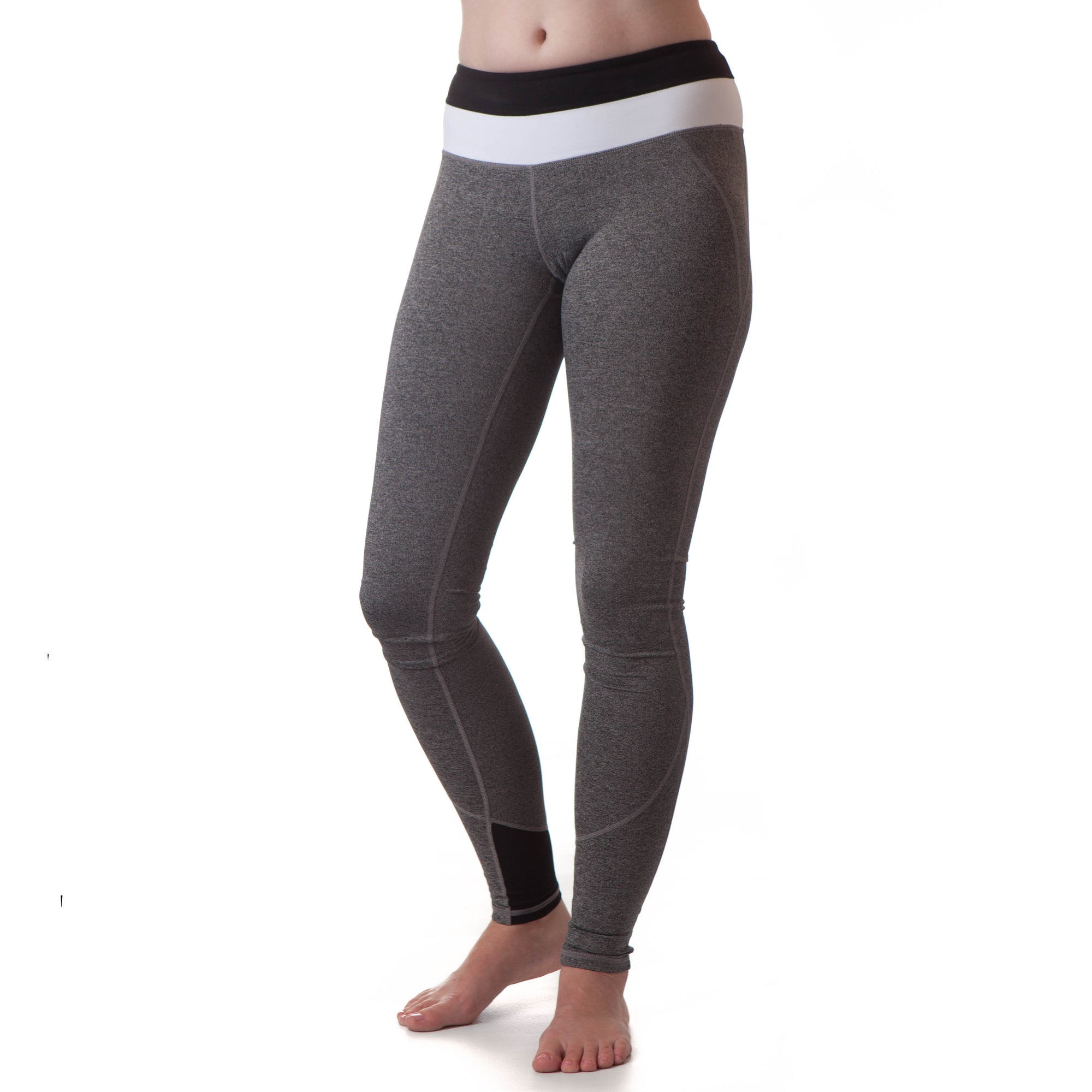 Extra Long Yoga Pants for Tall Women (Black/White) - Kindfolk Athletics