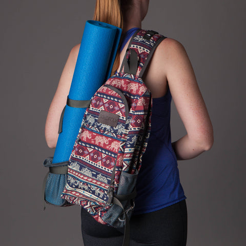 Yoga Mat Crossbody Backpack