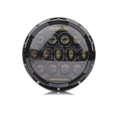 "7"" LED CREE Headlights (Plug & Play) V2 For Jeep Wrangler CJ TJ JK (1997-Current) - JWM 4x4 Jeep Wrangler Products"